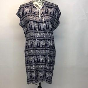 Tops - Elephant print tunic.  So funky size XL